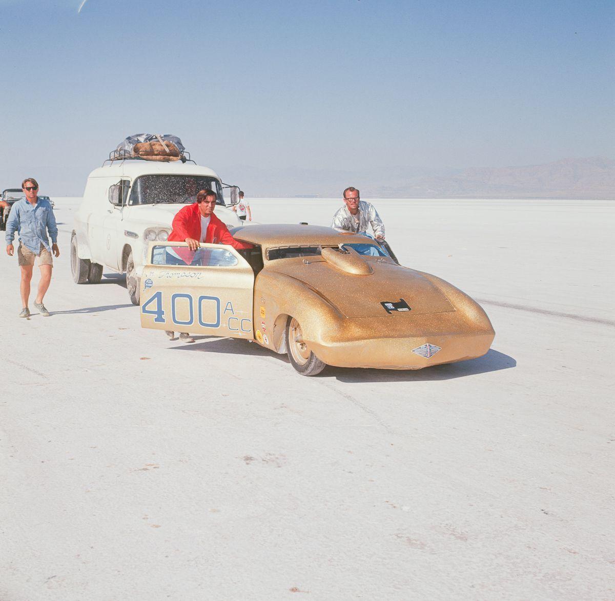1966 blasting away speed records on the bonneville salt