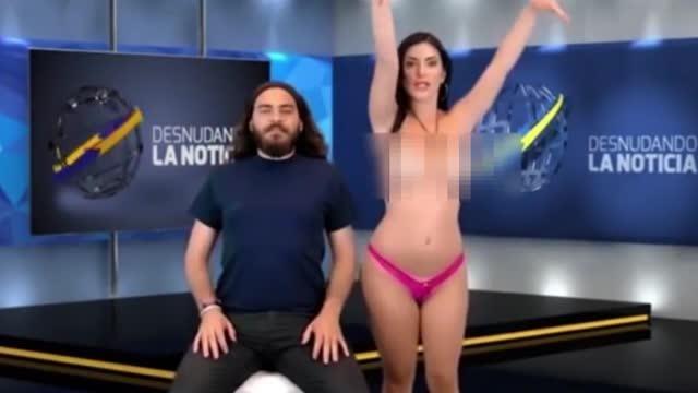 Naked news reading