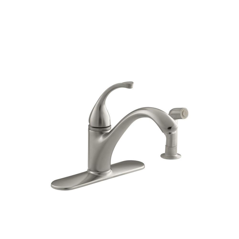 Kohler forte singlehandle standard kitchen sink faucet with