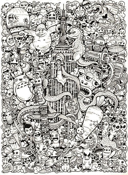 fer1972: More Doodle Drawings by Kerby Rosanes | Illustration ...