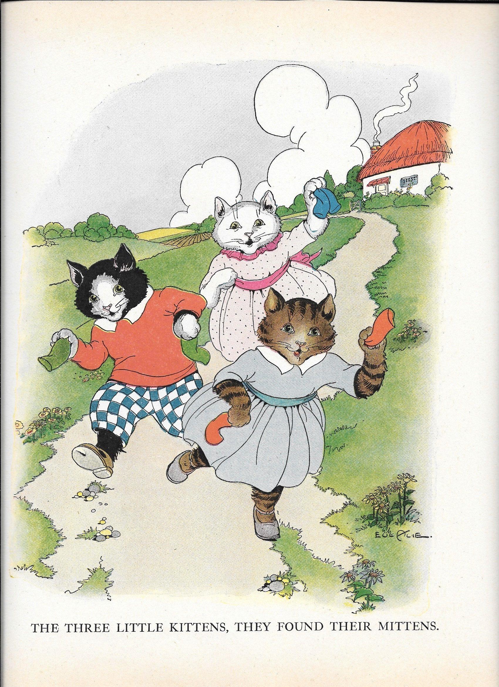 1932 Three Little Kittens Mother Goose Nursery Rhymes Etsy In 2020 Storybook Art Little Kittens Kids Story Books