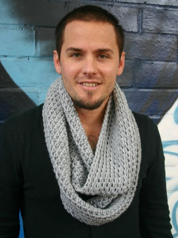 Hand knitted infinity scarves /12 ply/mens - Google Search | For him ...