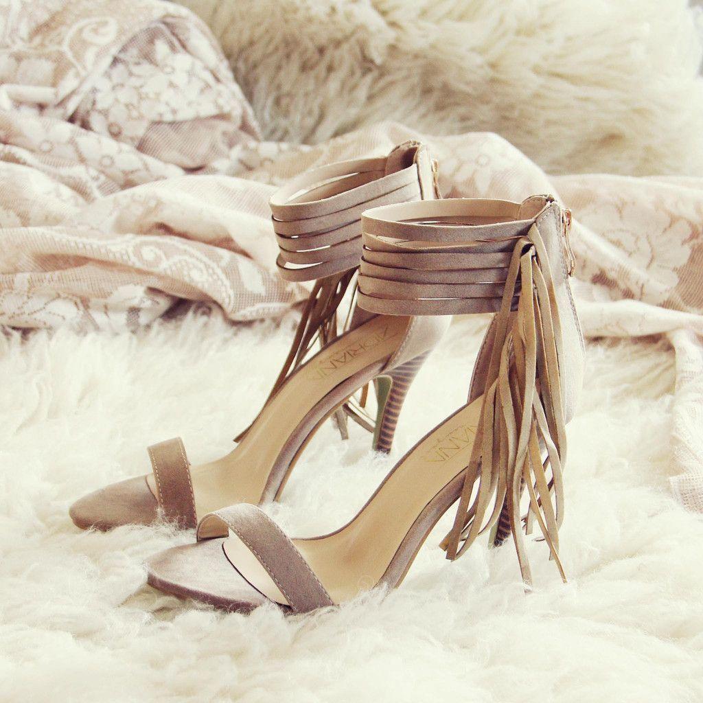 Monaco fringe heels sweet boho fringe party u wedding shoes from