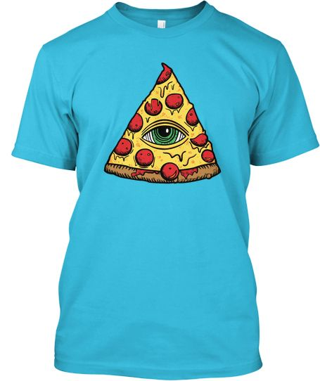 Pizza Illuminati, ACTIVATE! Beautiful American Apparel shirt and a tasty, 7-color design. For the pizza lover, the pizza liker, and to piss off the pizza haters.