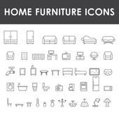 Photo of Set of home furniture icons – Stock Vector # 84660 …