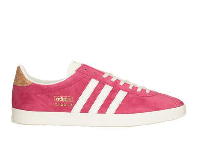 Baskets cuir rose Gazelle Adidas Originals | Baskets en cuir ...