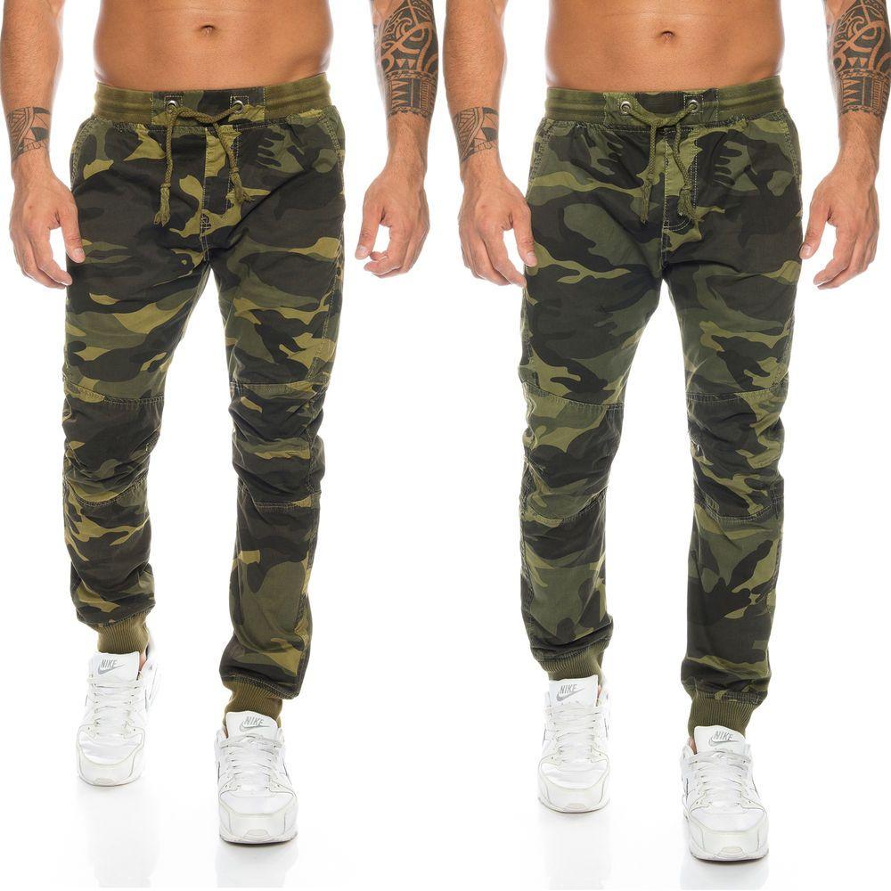 Herren Cargo Hose Armyhose Camouflage Jogghose Gummizug H 115 Neu W29 W38 Cargo Pants Men Army Pants Cargo Pants