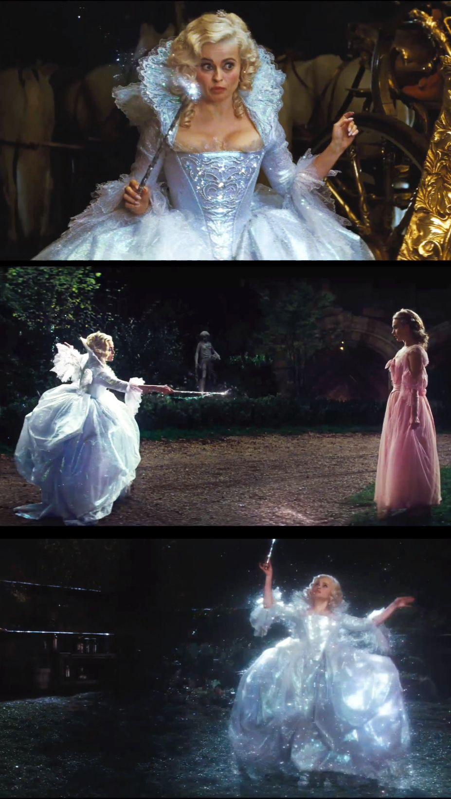 Helena Bonham Carter As The Fairy Godmother In Cinderella Costume