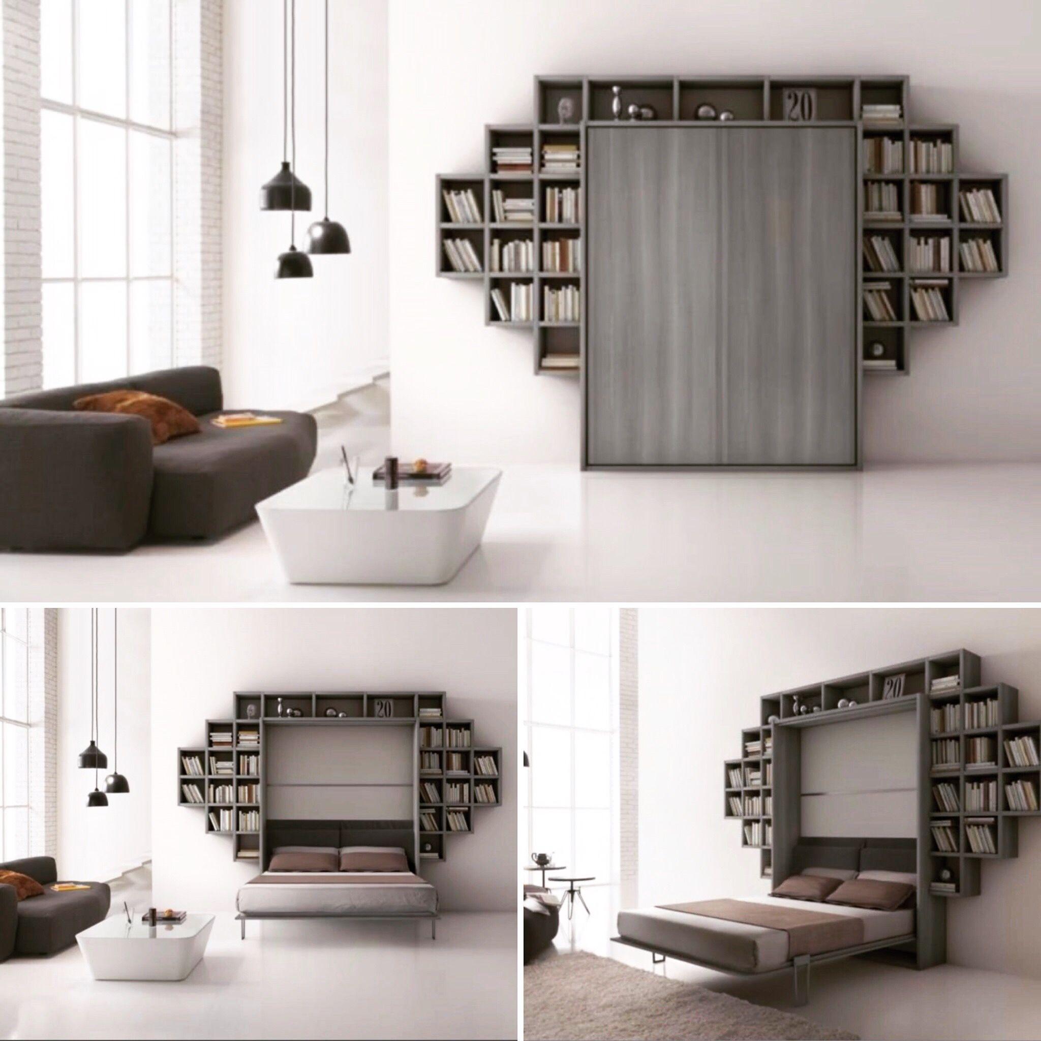 Libreria Con Letto A Scomparsa.Letto A Scomparsa Con Librerie Modello Anemone Artigiani In Citta