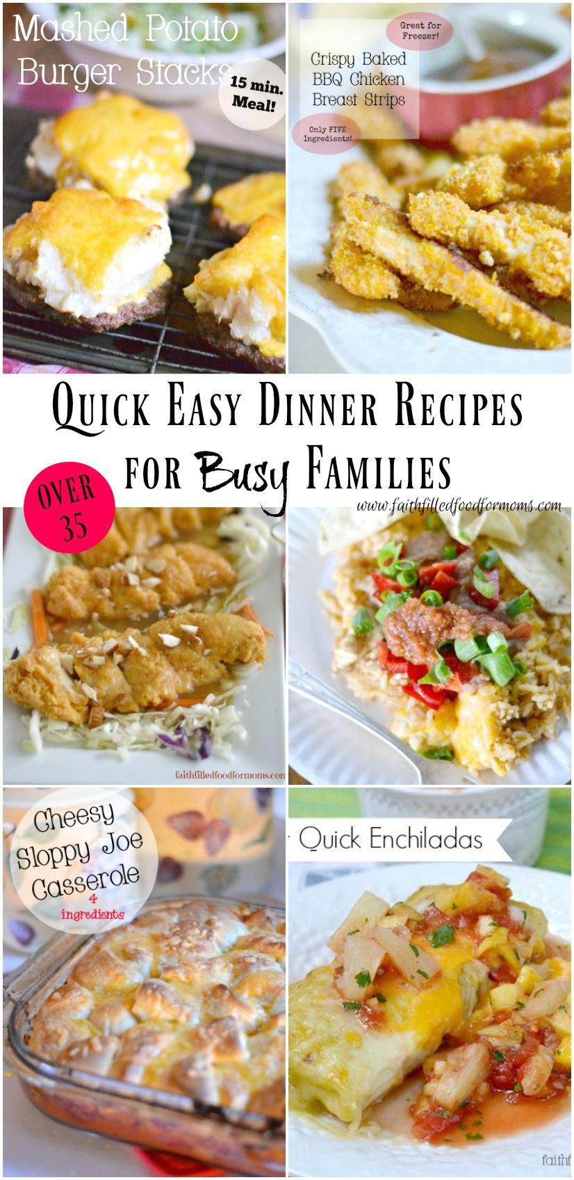 Quick Easy Dinner Recipes for the Family images