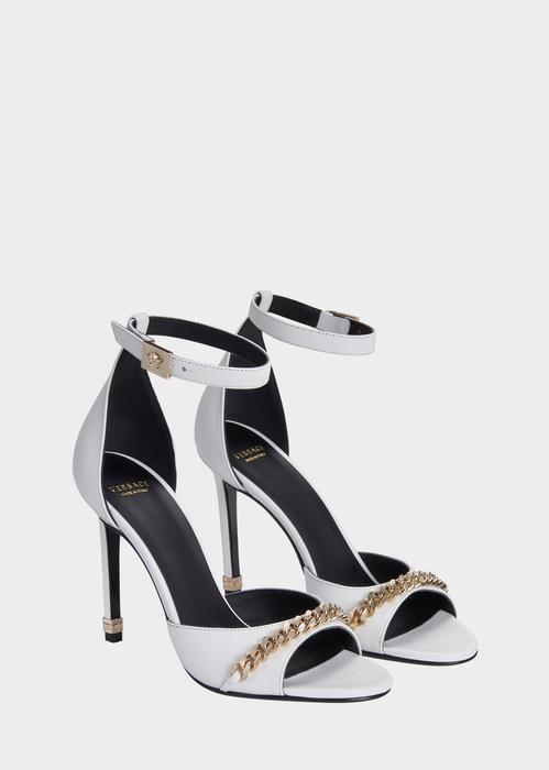 Golden leather sandals Versace e3KqTohN