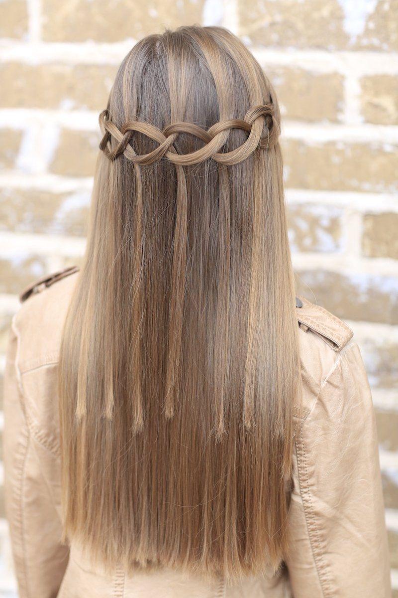 Loop waterfall braid and more hairstyles from cutegirlshairstyles