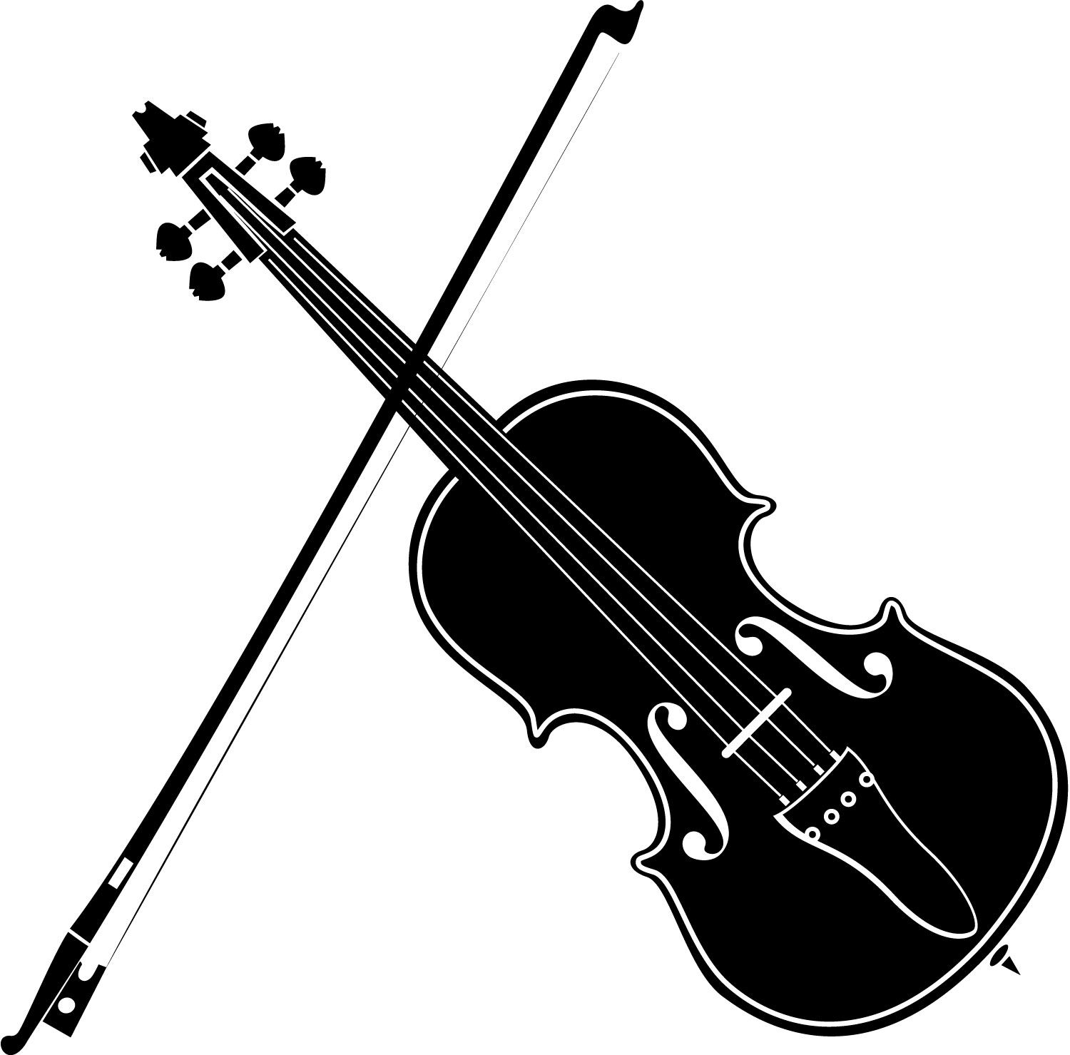 Playing Violin Clipart Black And White | Clipart Panda ...