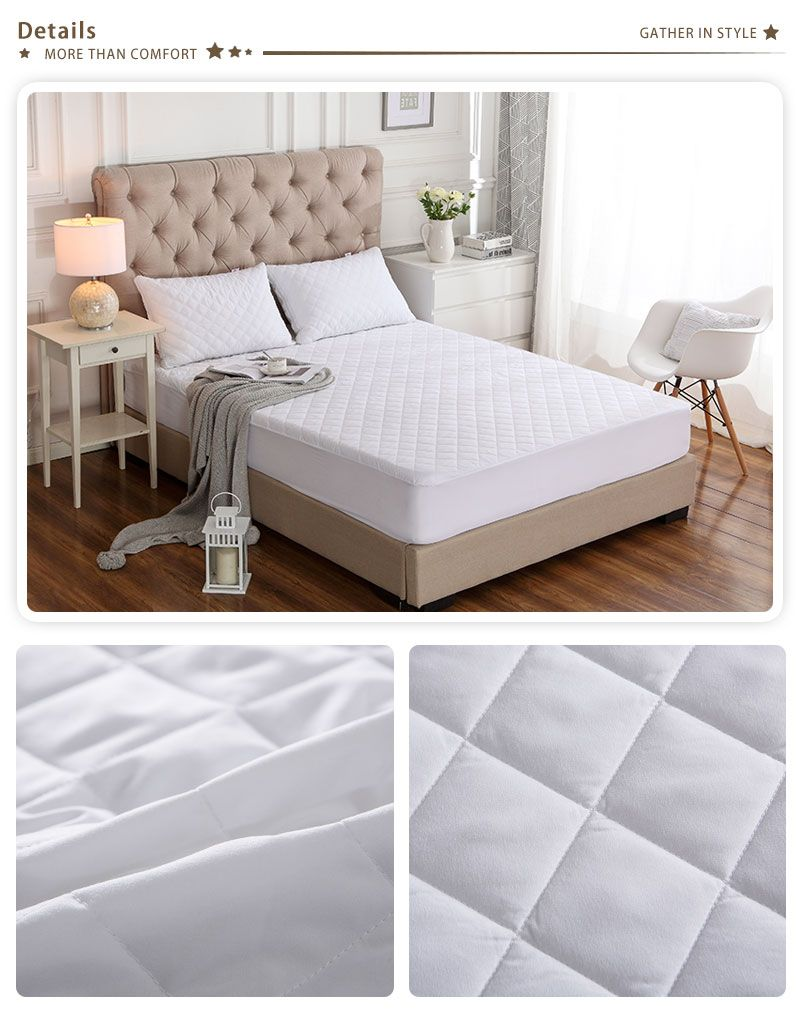 Brushed Fabric Quilted Bed Waterproof Cover Waterproof Knitting