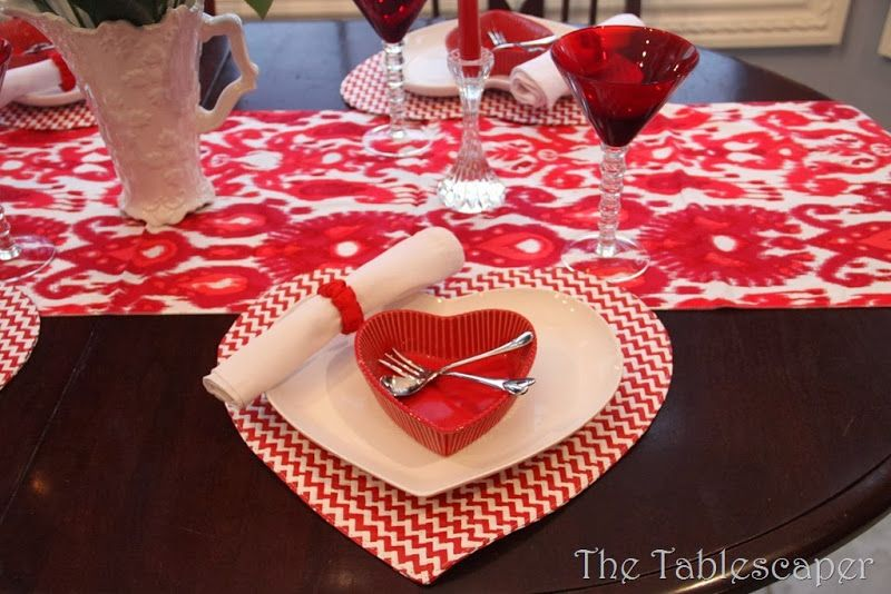 valentine tablescape, would love to have those placemats | Be My ...