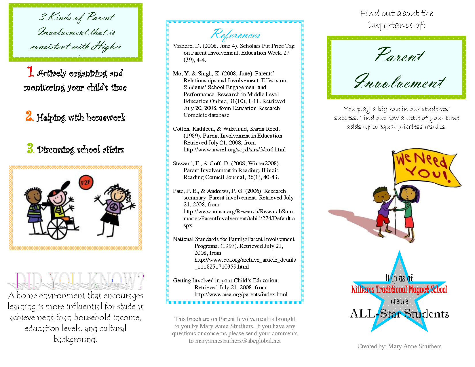 Parent Brochure Templates And Earning Disabilities