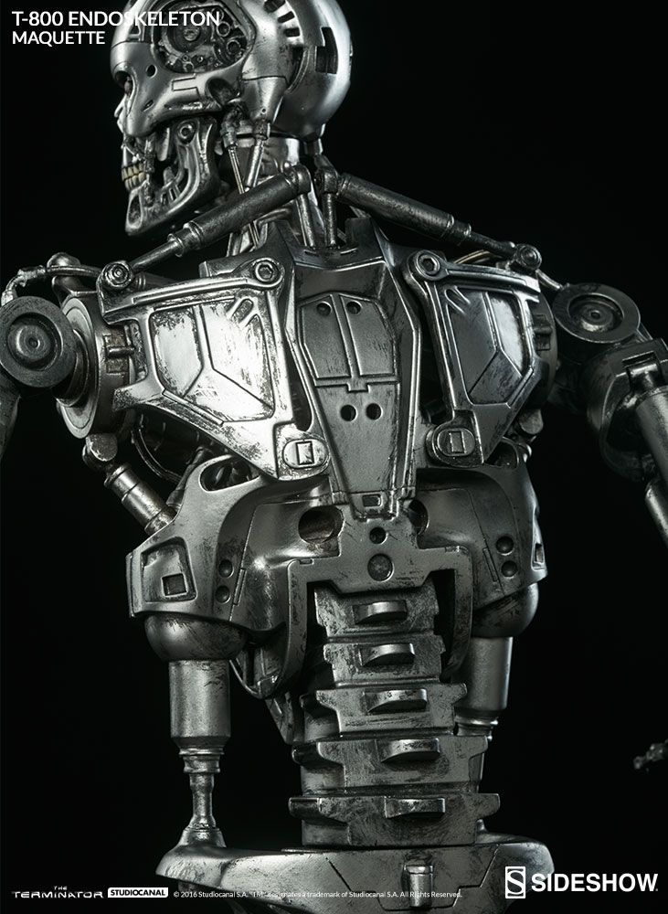 the terminator t800 endoskeleton maquette is available at