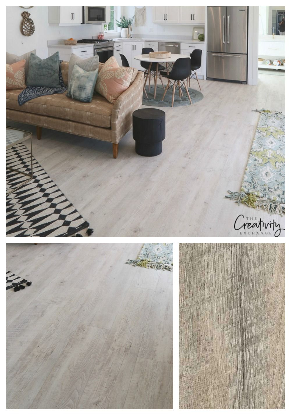 Modern Farmhouse Home Tour: Millhaven Homes  Luxury vinyl plank