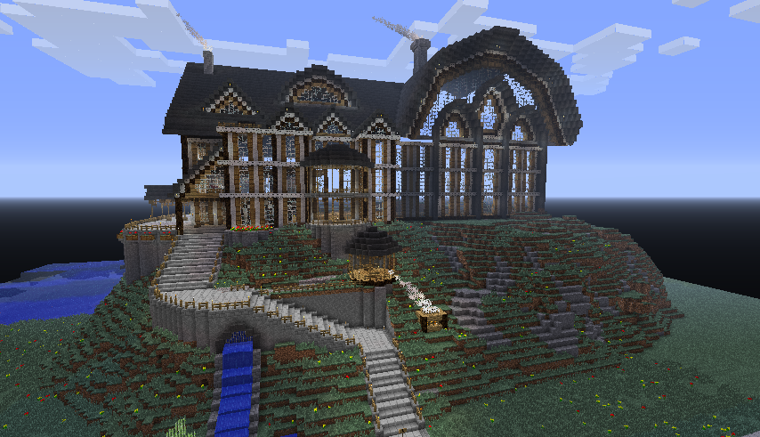 Minecraft A House Built By Someone In Minecraft, A Video Game. Yes, I