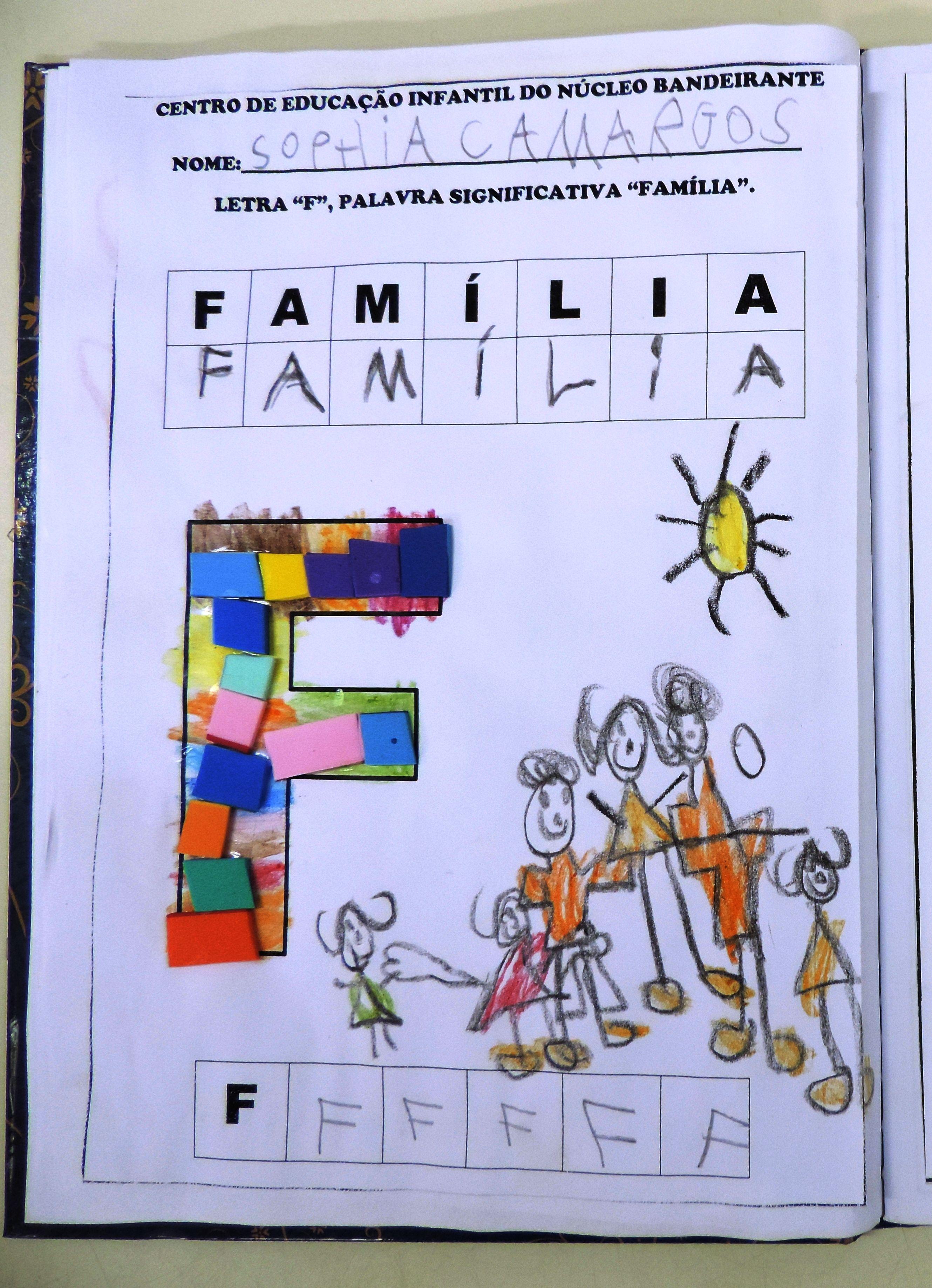 Tema Familia Trabalhando A Letra F E A Escrita Da Projeto