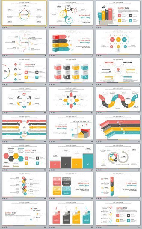 24 best creative infograp powerpoint template design pinterest