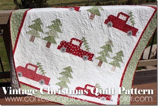 vintagechristmas17 | Scrappy Quilts | Pinterest | Christmas quilt ... : christmas quilting patterns - Adamdwight.com