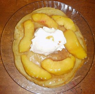 Recipes For My Boys: Ginger Snap Peachy Pan Cakes