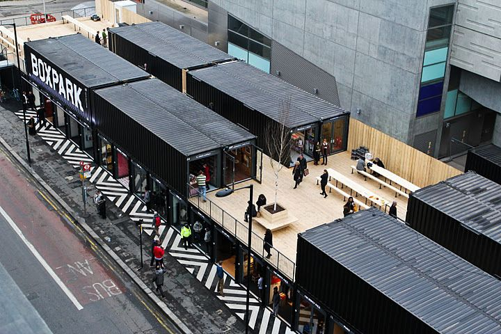 Container Haus London Boxpark: London's First Pop-up Shipping Container Mall