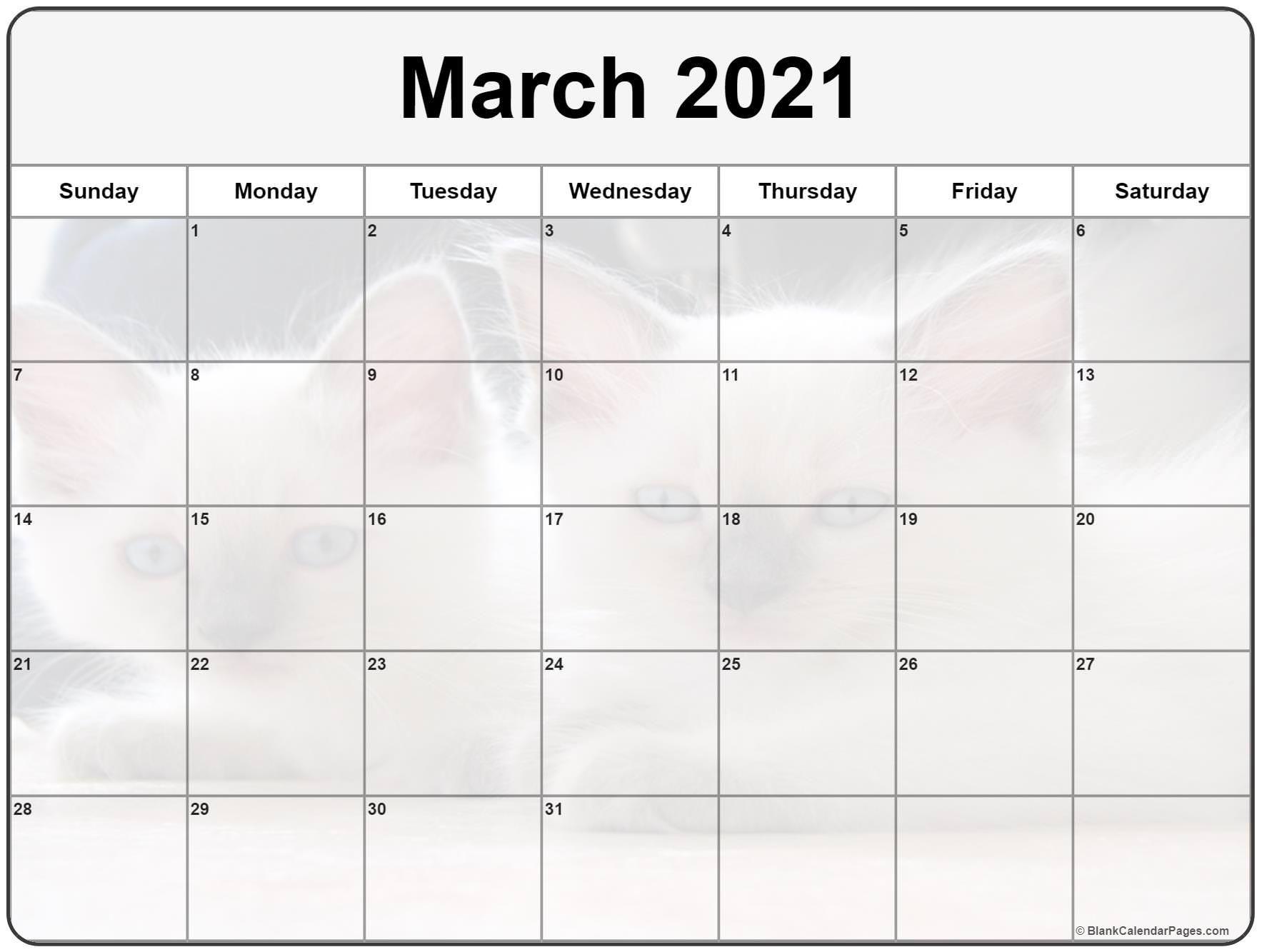 Cute March 2021 Calendar Printable In 2020 Calendar Printables Photo Calendar 2021 Calendar