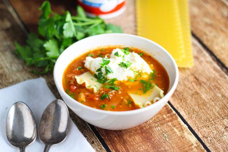 Lasagna Noodle Soups