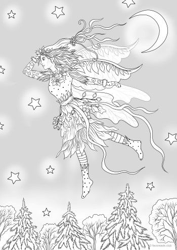 winter fairy  coloring pages printable adult coloring pages adult coloring pages
