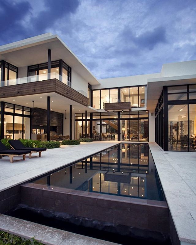 #architecture_hunter South Island Residence, in Golden Beach, Florida, by  KZ Architecture @