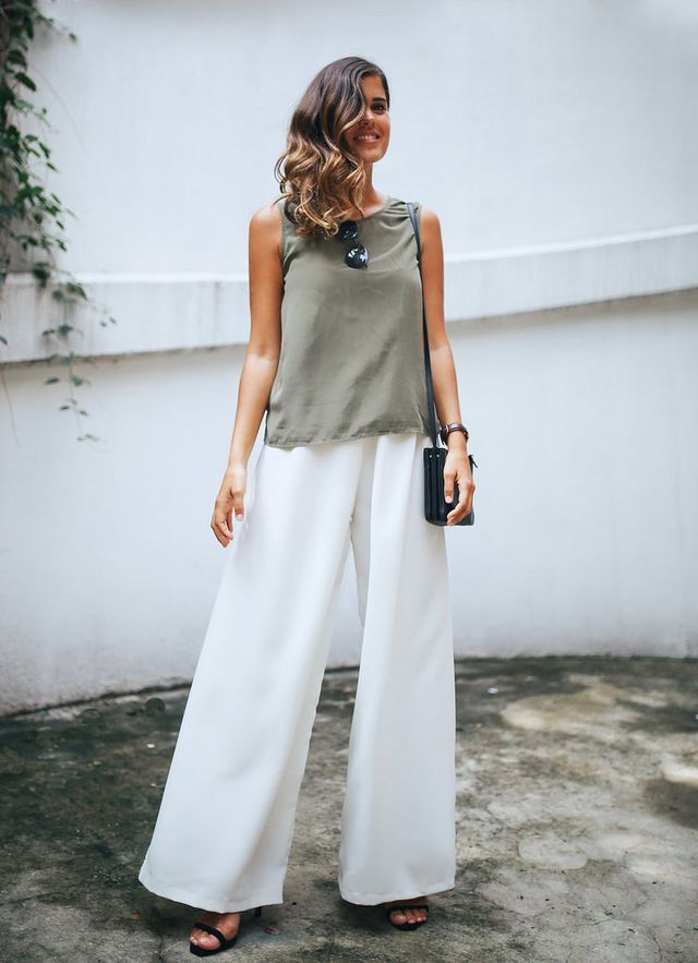 DIY EASY WIDE LEG TROUSERS (a pair & a spare) | Wide leg trousers ...