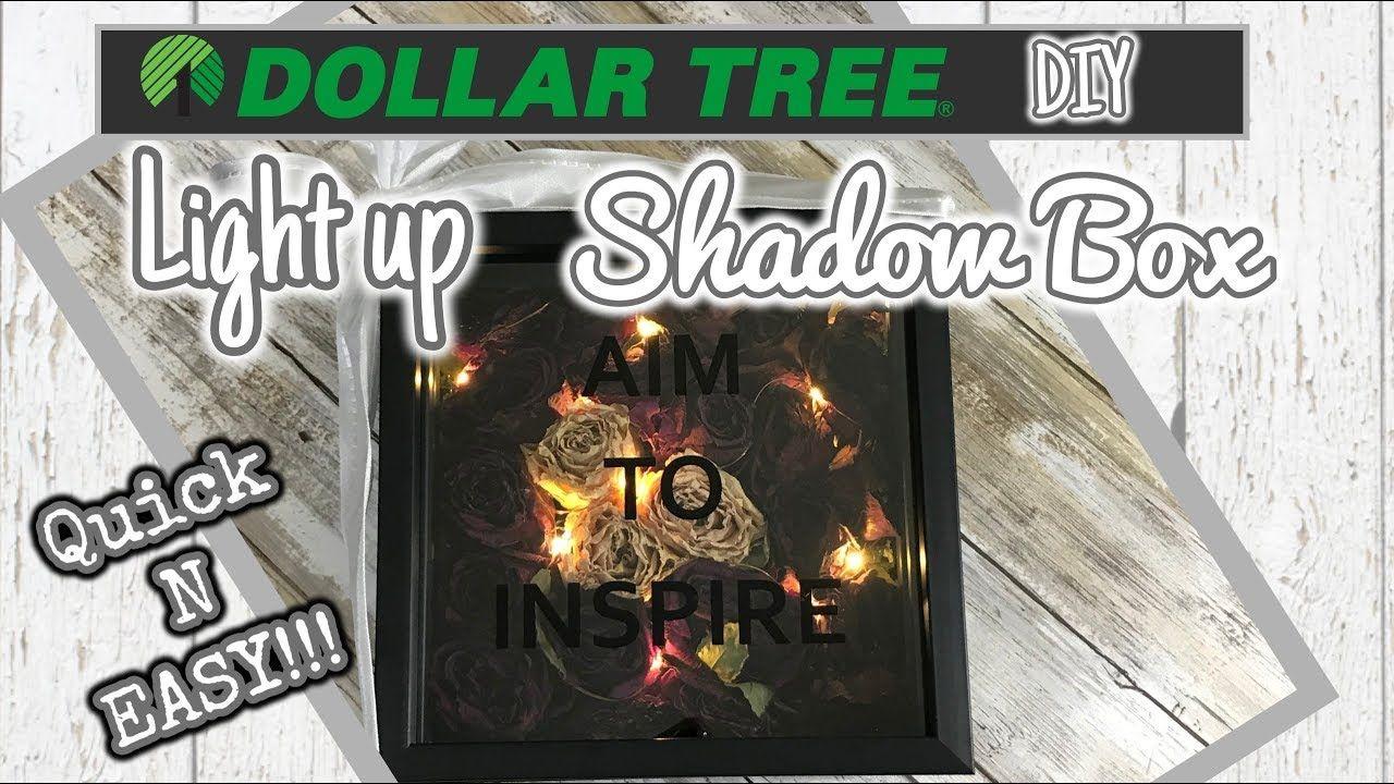 Diy dollar tree easy light up shadow box diy shadow box