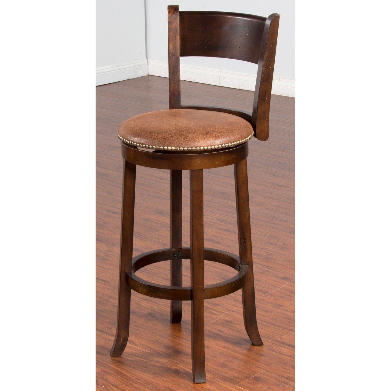 Brown 30 Inch Swivel Bar Stool Santa Fe Bar Stools 30 Inch Bar Stools Bar Stools With Backs Bar stools 30 inch