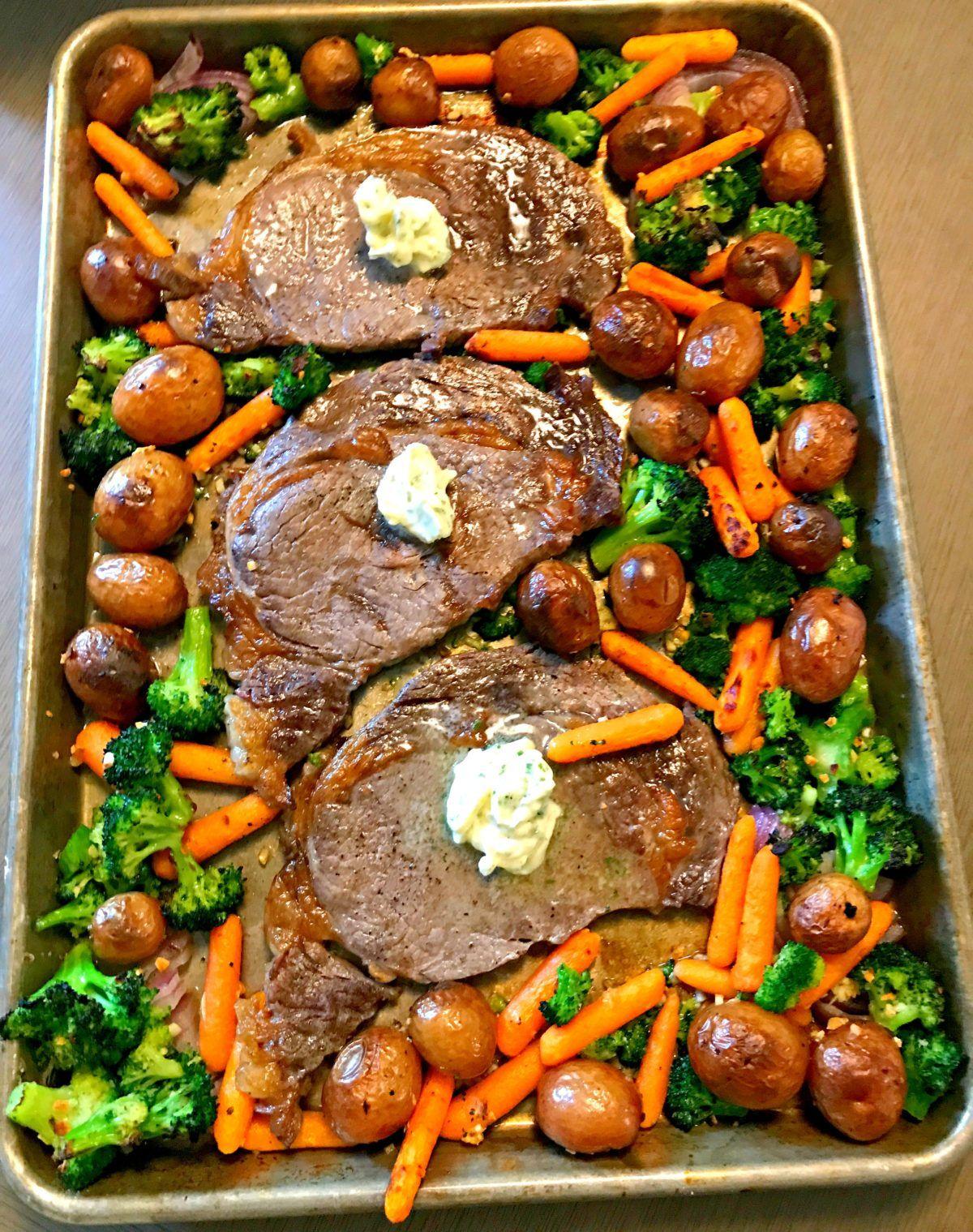 Health dinner steak