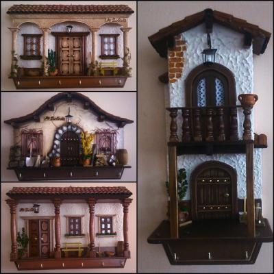 Casa De Muñecas En Miniatura Botella De Puerto