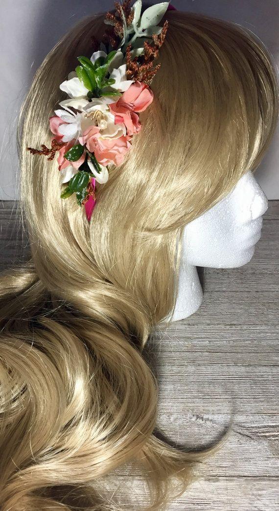 Flower headbandBridal headbandBridal by FloralFlairware on Etsy