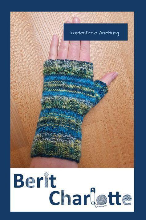 Photo of Hier finden Sie auch ein Grundrezept für diese fingerlosen Socken aus Sockenwolle …