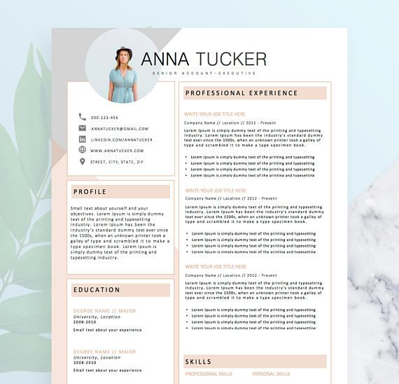 modern resume template    cv template for word  cover letter  four page resume  teacher resume