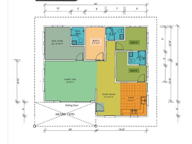 Pakej Berlian Floor Plans Home Decor Home