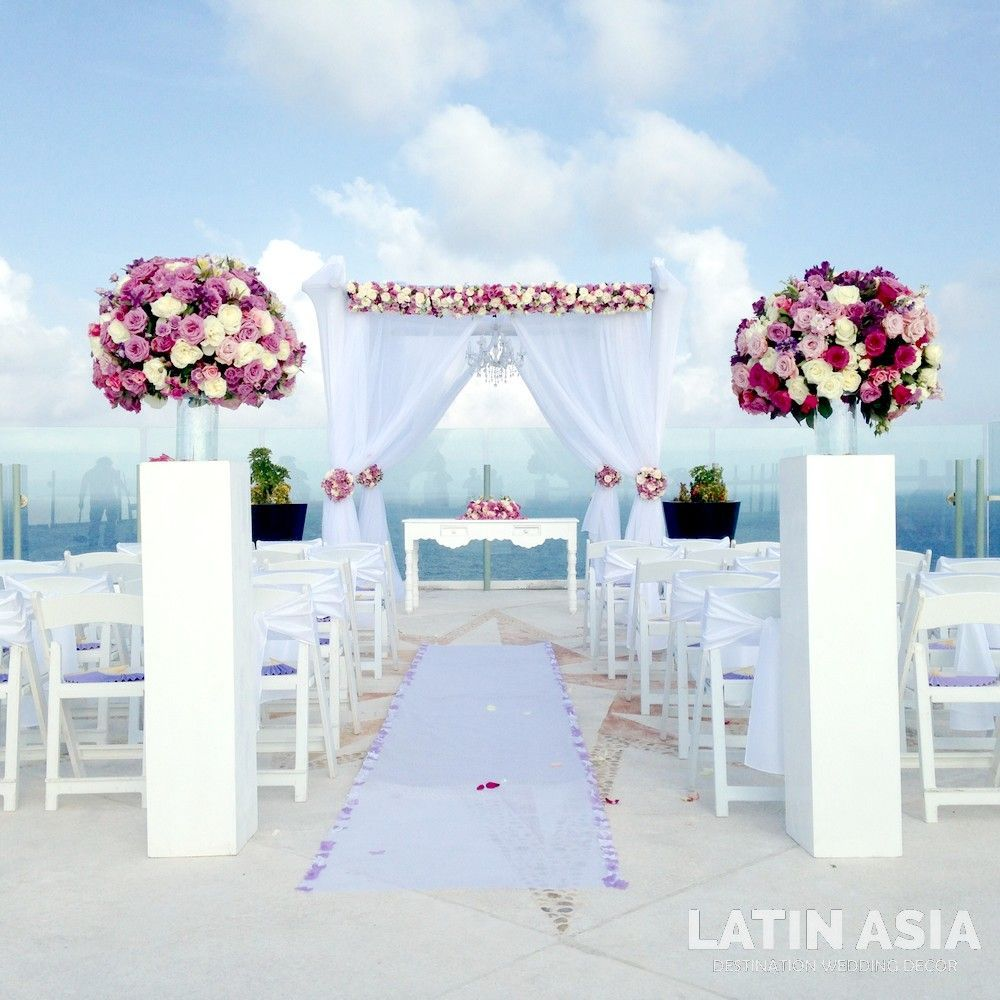 Beach Wedding Ceremony Ideas: Elegant Ceremony Set Up Wedding Ceremony Decor Ideas In