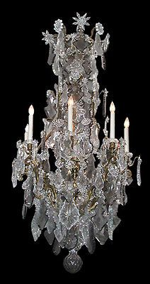 Antique-19th-C-Baccarat-Crystal-Bronze-Chandelier-with-Candles-2898