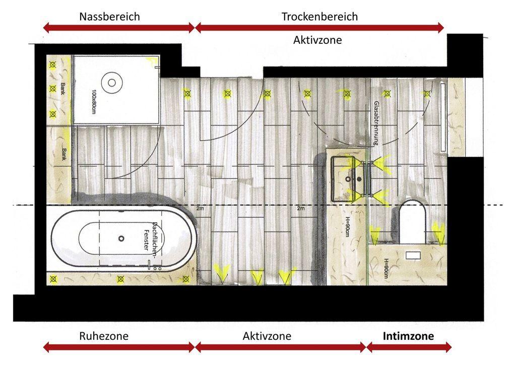Der Dachschräge ein Schnippchen schlagen - SBZ Häuser - badezimmer grundriss planen
