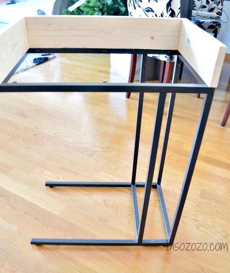 How To Make A Desk, Using An Ikea Vitssjo Laptop Table.