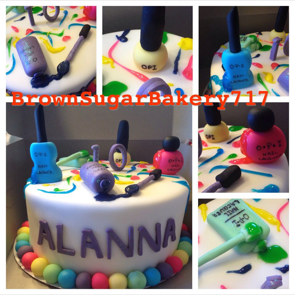 Cake Fondant Nails: Nail Polish Cake. Fondant Nail Polish. All Edible