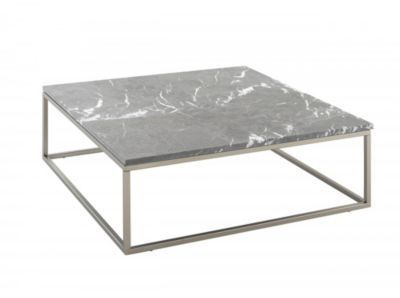 En Gris Clair Assortie A La Table A Manger Decouvrez Fly Bran Table Basse Carree 100x100 Cm Metal Marbr Table Basse Carree Mobilier De Salon Table Design