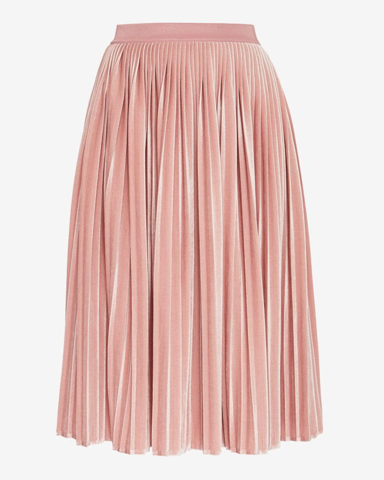 128f1142a Pleated velvet midi skirt - Light Pink | Skirts | Ted Baker UK | Ted ...