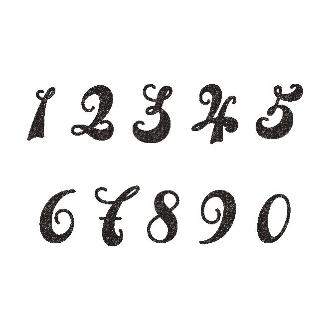 おしゃれで目立つ 数字 ナンバー スタンプ 白黒 フリーイラスト レタリングデザイン クリエイティブなレタリング 数字デザイン