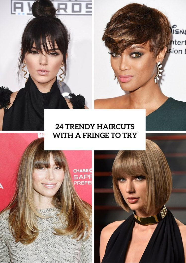 24 Trendy Women Haircuts With A Fringe To Try